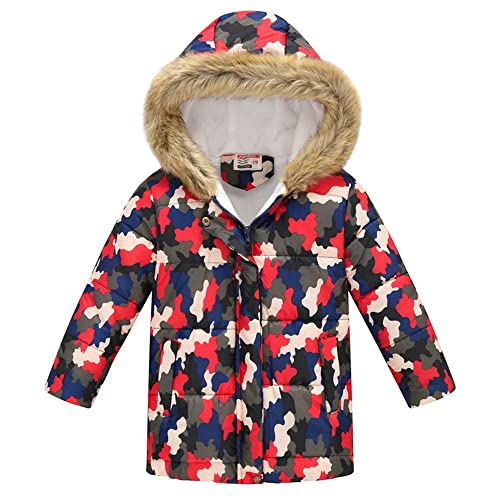 Miss Bei Boys Water-Resistant Hooded Parkas Puffer Jacket Winter Coat