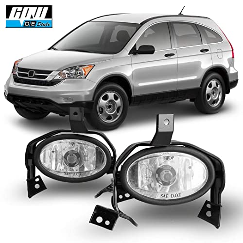 Clear Lens Bumper Driving Fog Lights Pair 2010-2011 Honda CR-V CRV Wiring CPW Compatible with Switch Kit