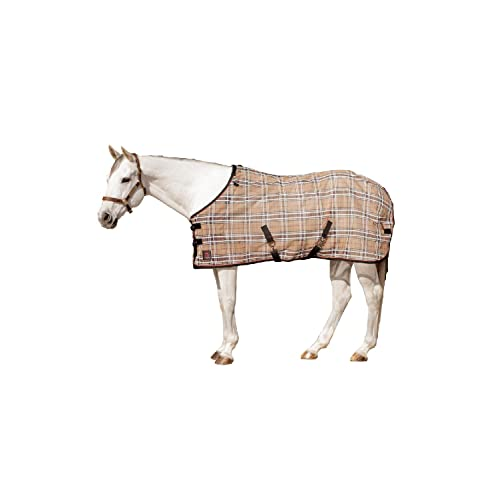 Kensington Platinum SureFit Protective Fly Sheet For Horses /— SureFIt Cut With Snap Front Chest Closure /— Made of Grooming Mesh This Sheet Offers Maximum Protection Year Round