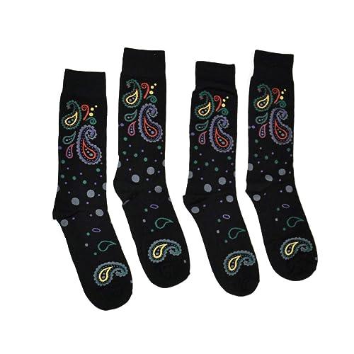 Bop Classy Mens Colorful Fancy Dress Socks 2 Pairs Dot /& Paisley Combination of Argyle Striped