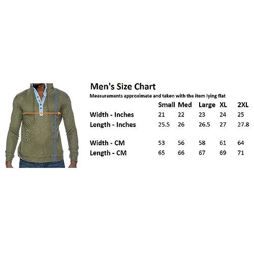9 Crowns Mens Lightweight Hooded Henley Long Sleeve Shirt