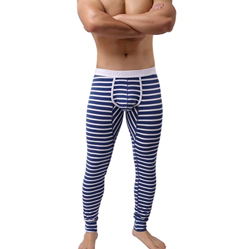 KAMUON Men/'s Cotton Separate Pouch Long Johns Thermal Bottoms Underwear Pants