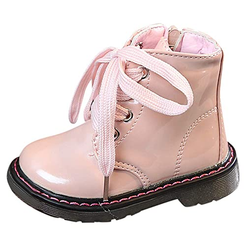 DDKK kids boots British Style Winter Warm Flock Short PU Booties Anti-Slip Sneaker Running Shoes Kids Girls Boys