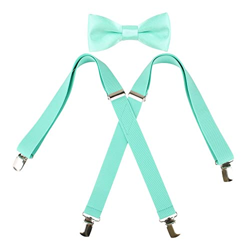 a1740e2a3126 Buy Kat Cheung Bahar 2PCS Bow Tie And Suspenders Set For Kids 4 Clips Adjustable  X with Ubuy Bahrain. B075L73KTS