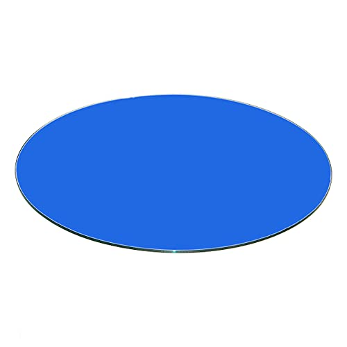 Buy Fab Glass And Mirror 34 Blue Round Back Painted 3 8 Inch Thick Tempered Flat Polish Edge Glass Table Top Online In Bahrain B00fyv2a76