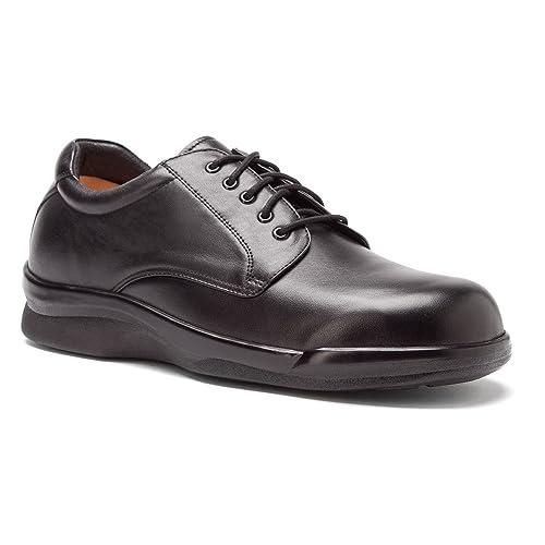 Aetrex Mens Ambulator Conform Oxford Orthotic Shoes,Black Smooth