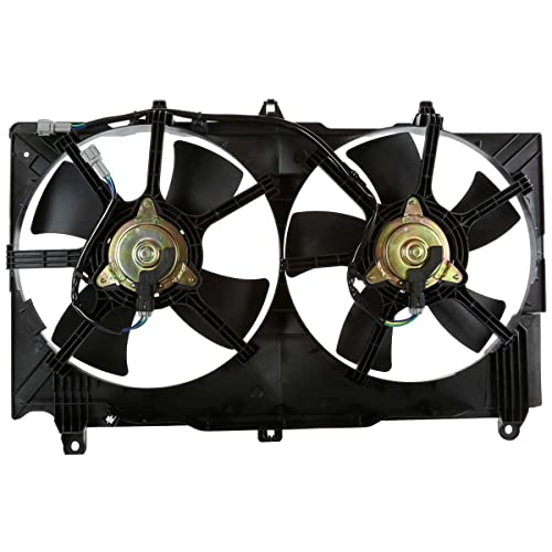 AutoShack FA720431 Radiator Dual Cooling Fan Assembly Replacement for 2003-2007 Infiniti G35 2003-2006 Nissan 350Z 3.5L