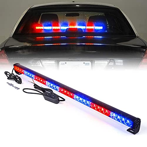 Amber Maodaner 48 LED Roof Top Emergency Hazard Warning Flash Strobe Light Bar w//Magnetic Base for Snow Plow Trucks Police Firefighters Vehicles