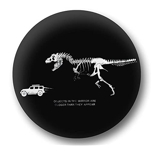 Black Leather Wrangler Accessories fits Grand Cherokee Personalized with T-Rex Chasing Jeep UV Resistant Heavy Duty Renegade Liberty Non-scratch Soft Back Jeep Spare Wheel Tire Cover SUV