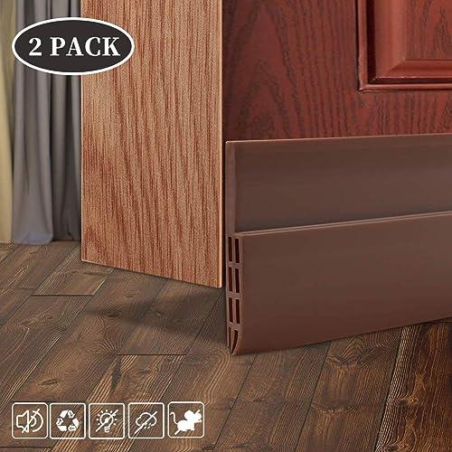 "Grey 37/"" Weighted Door Draft Stopper Energy Saving Under Door Guard Perfect Weather Stripping Door Sealer with Hook Tape 2.2 Lbs. Beige Heavy Duty Noise and Air Blocker"