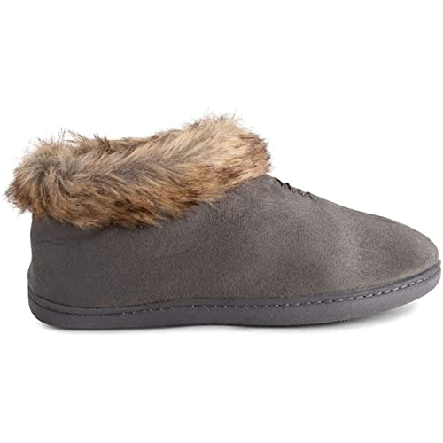 POLAR Womens Memory Foam Moccasin Loafer Rubber Sole Anti Slip Durable Winter Indoor Outdoor Slippers