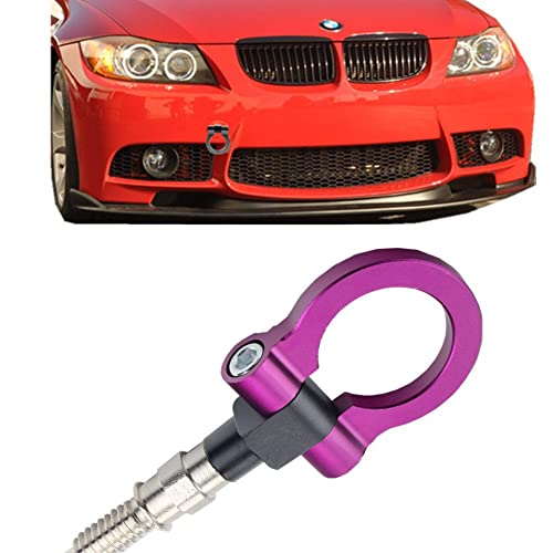 Gunmetal M18x2.5 Screw-On Aluminum Front//Rear Race Tow Hook Ring For Honda FIT