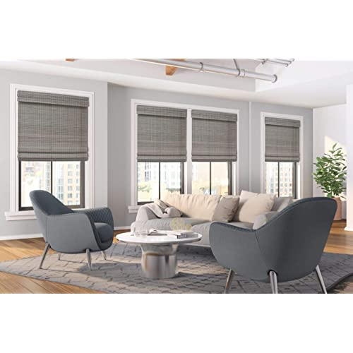 Hatteras Cocoa Cordless Woven Wood Roman Shades Any Size 20-72 Wide and 24-72 High 27W x 68H