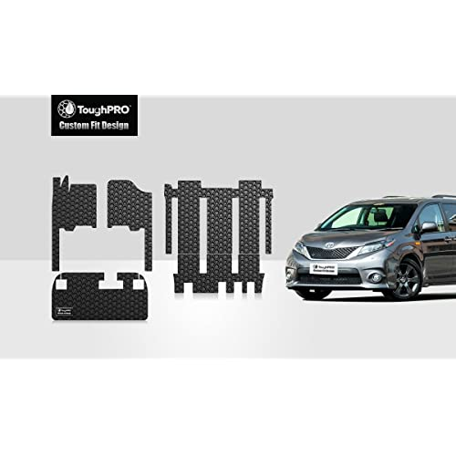 toughpro floor mat accessories full set storage compatible with toyota sienna 7 passengers all weather black rubber 2011 2012 2013 2014 2015 2016 2017 2018 2019 2020 2021 buy products online with ubuy bahrain in affordable prices toughpro floor mat accessories full set