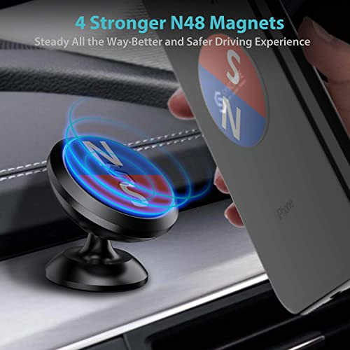 Universal Car Phone Mount for Dashboard 360/° Adjustable Cell Phone Cradle Mount Compatible with iPhone LG Magnetic Car Phone Holder Samsung GPS