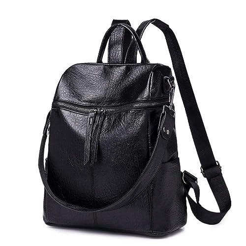 Size One Size Fashion Shoulder Bag HaloVa Womens Backpack Black Premium