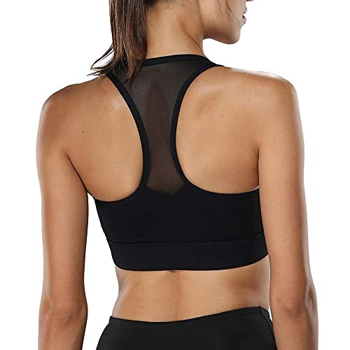 Mesh Back Breathable Activewear Bra with Removable Pads Litthing Racerback Sports Bras for Women
