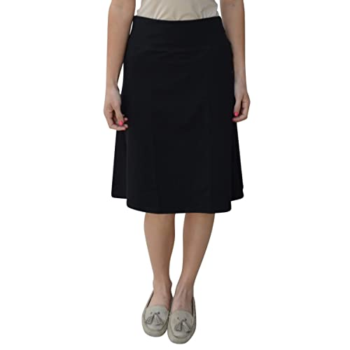 Kosher Casual Kids Big Girls Modest A-Line French Terry Cotton Spandex Knee Length Sports Skirt