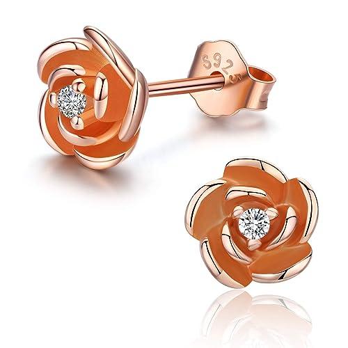 White Gold Plated Opal Turtle Stud Earrings for Girls Women Hypoallergenic /…