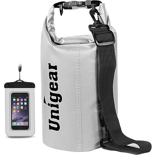Orange, 30L Unigear 600D Dry Bag 2L//5L//10L//20L//30L//40L Waterproof Sack with Phone Dry Bag and Long Adjustable Shoulder Strap for Boating//Kayaking//Fishing//Rafting//Swimming//Camping//Snowboarding