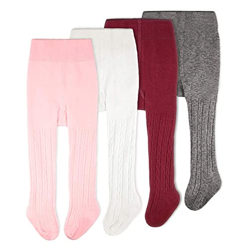 CozyWay Baby Girls Tights Cable Knit Leggings Stockings Cotton 1//3//4//5 Pack Pantyhose Infants Toddlers 0-4t