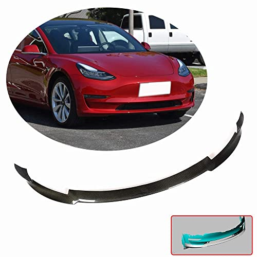 MCARCAR KIT Rear Splitter fits Tesla Model 3 Sedan 2016-2019 Factory Outlet Carbon Fiber CF Lower Bumper Lip Winglets Vents Cover Cupwings Flaps Spoiler Body Kit