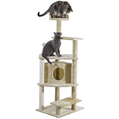 Buy Furhaven Pet Tiger Tough Tall Cat Tree Entertainment Playground Furniture For Cats Kittens Multiple Styles Colors Online In Bahrain B01ki15i0c