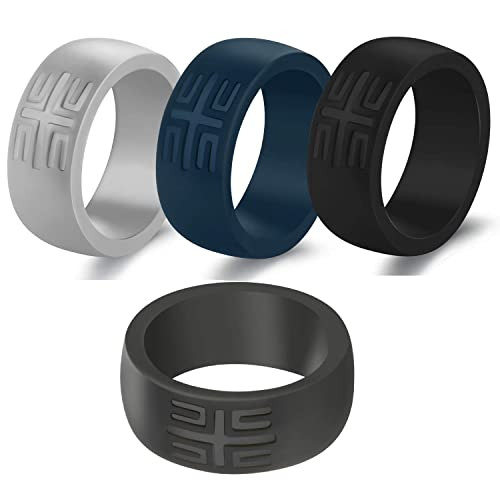 5 Pack Multi-Colored Thin Silicone Sports Bands with Gift Metal Box Classic Breathable Rubber Wedding Ring YesFit Silicone Wedding Ring for Women