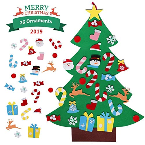 Buy Digdan Diy Felt Christmas Tree 3 2ft New Year Handmade Xmas Gifts Door Wall Hanging Decorations With 26pcs Detachable Ornaments For Kids Online In Bahrain B07ykmnqd1