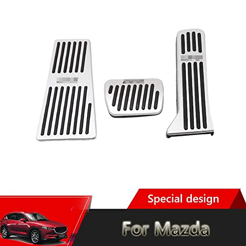Great-luck aluminium alloy Gas Accelerator Pedal Covers,Anti-Slip No Drilling Rest pedal Brake Foot Pedal Pads Kit 3 pieces//set 2019 2020 Silver for BMW 3 Series G20