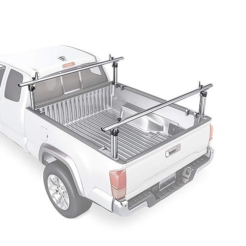 AA-Racks Model X217 Hightop Square Van Ladder Rack Rain-Gutter High Roof Rack 3 Bar Set White