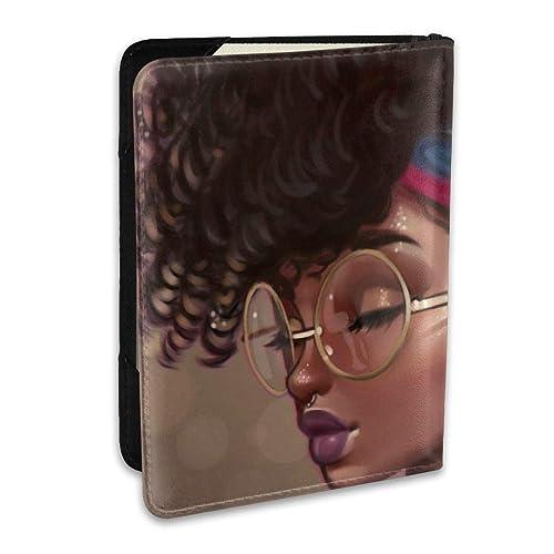 Rosario Vampire Girl Bat Moon Leather Passport Holder Cover Case Travel One Pocket
