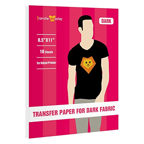 VViViD Inkjet Printable Iron-On 8.5 Inches x 11 Inches Image Transfer Paper 10 Sheet Pack