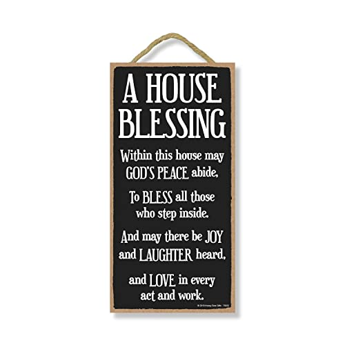 Buy Honey Dew Gifts Inspirational Decor A House Blessing 5 Inch By 10 Inch Hanging Sign Wall Art Decorative Wood Sign Home Decor Online In Bahrain B07pnlxpft