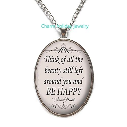 Thik of All The Necklace-Quote Pendant-Inspirational Jewelry Gift for Women and s-#268