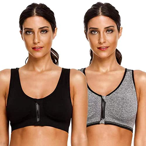 Rocorose Womens Yoga Bra Cross Back Padded Strappy Wirefree Sport Bra with Removable Cups Gym Workout Fitness