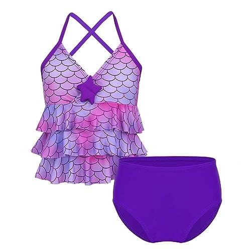 CHICTRY Big Girls Youth 2 Piece Floral Tie-Dye Bathing Suit Tankini Swimwear Swimsuit