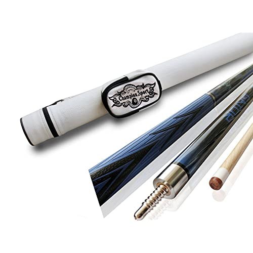 Pool Cue Case Champion Spider Billiards Maple Pool Cue Stick 18-21 oz Champion Glove,Retail Price $189.52