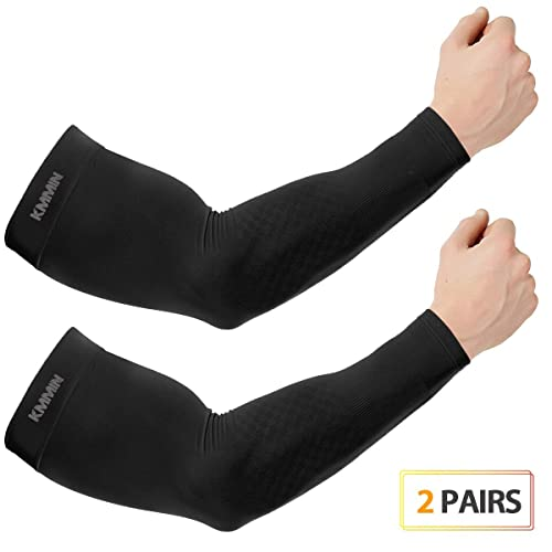 Arm Sleeves for Men and Women UPF 50 Sport and Hand Protection Covers Tattoo 1 Pair