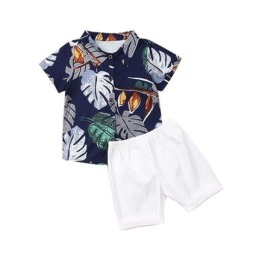 Toddler Infant Baby Boy Vest Shorts Set Dinosaur Tank Tops+Pants Outfits Summer Clothes