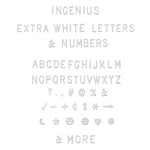 Extra Letters Set With Words Symbols and Emojis with Bonus Storage Bag 11 Cursive Words and 374 Letters Numbers No Board