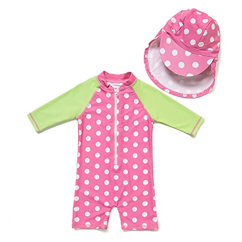 Sun Protection Come with a Hats Baby Girl Bathing Suit L//S UPF 50