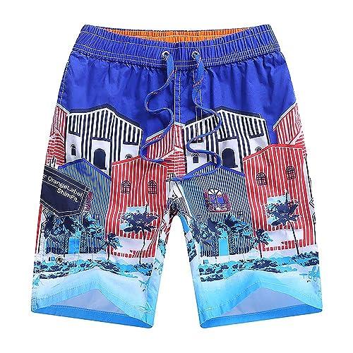 techcity Boys Teens Swim Trunks Quick Dry Surfing Beach Sports Running Swim Shorts with Drawstring 6T to 18//20