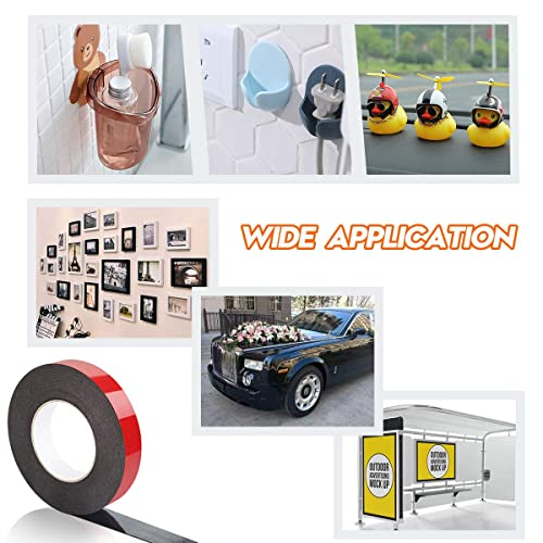 33 Ft Long X 2.36 in Wide Office Decor,LED Strip Lights,Photo Frame Double Sided Tape,PE Foam Adhesive Tape for Automotive Mounting,Weatherproof Decorative and Home Decor