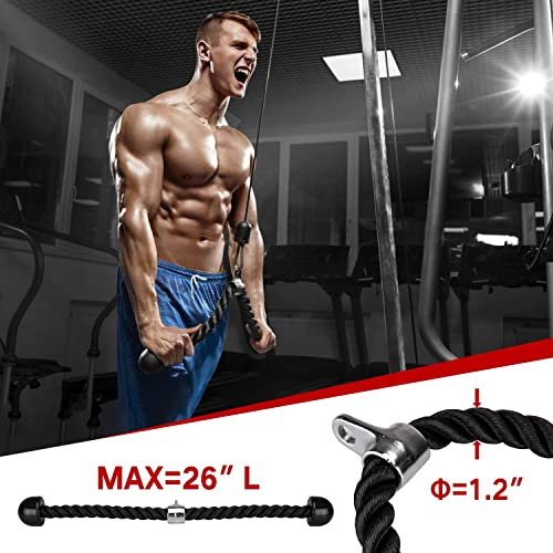 Patent Mikolo Fitness LAT and Lift Pulley System Profession Biceps Curl Shoulder-Home Gym Equipment Cable Machine with Upgraded Loading Pin for Triceps Pull Down Back Forearm