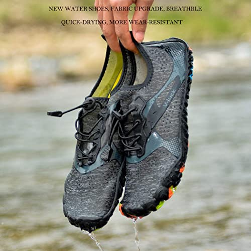 Veluckin Mens Water Shoes Barefoot Quick Dry for Beach Walking Swimming Pool Aqua Sports
