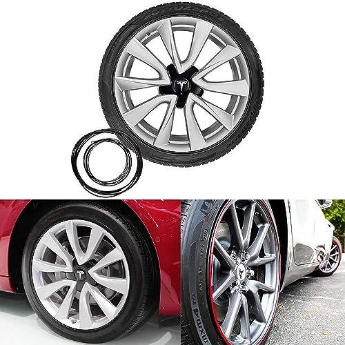 Full Kit Wheel Bands Black in Black Pinstripe Rim Edge Trim For Lexus LX