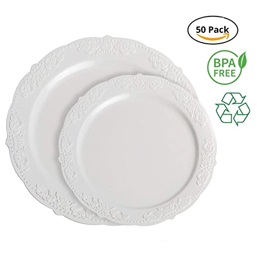 Party Joy I Cant Believe Its Plastic Royal White Plastic Plate Set Buy Products Online With Ubuy Bahrain In Affordable Prices B07bfqg43f