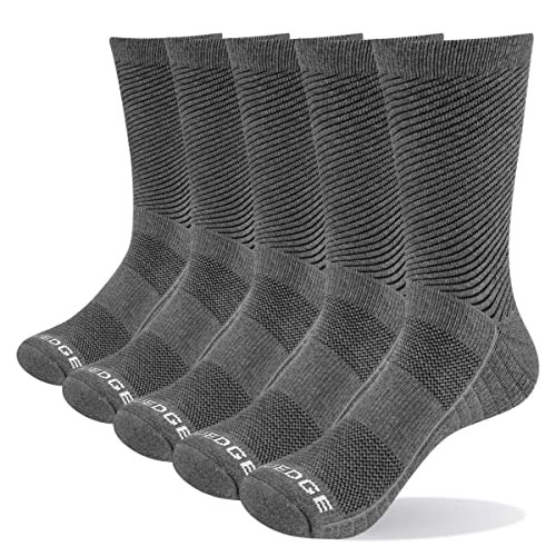 YUEDGE Womens Cushion Cotton Crew Athletic Hiking Socks 5 Pairs//Pack Moisture Wicking Winter Warm Thick Boot Socks for Women