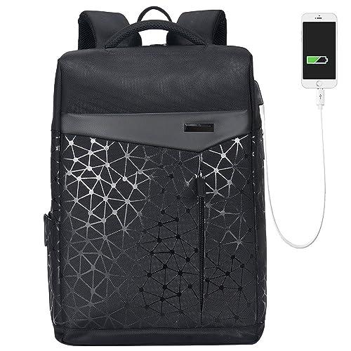 Aoking College 15.6 Laptop USB Backpack Antitheft Waterproof Office Slim Cool Backpack for Men /…